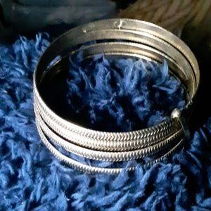 4 stranded bangle bracelet
